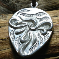Silver Floral Pendant, Sterling Flowers  Pendant, Anniversary, Birthday, Valentine's Day, Christmas, Gift