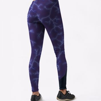 Blue Lightning Leggings 1