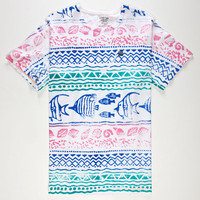 Mowgli Surf Seashore Mens T-Shirt White  In Sizes