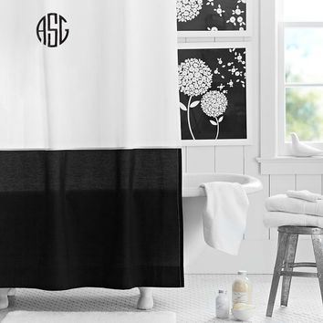 Classic Border Shower Curtain, Black