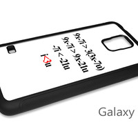 Algebra Formula for Love Cell Phone Case for iPhone and Samsung Phones