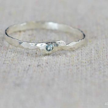 Freeform Aquamarine Ring