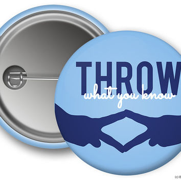 ADPi Alpha Delta Pi Throw What You Know Sorority Greek Button