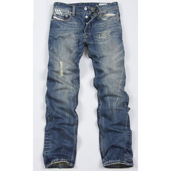 Slim Ripped Holes Men Jeans [6528464707]