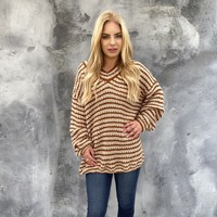 Cutie Pie Stripe Knit Oversize Sweater