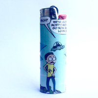 Rick & Morty Comic Book Custom Bic Lighter