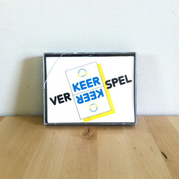 Ver-Keer Spel: Dutch Traffic Memory Game {1980s} Vintage Card Game