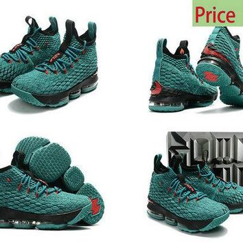 2018 How To Buy 2017 2018 LBJ Lebron 15 XV Christmas Sport Turquoise Black Red sneaker