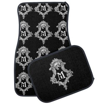 M Monogram Initial Set of Car Mats