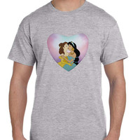 Gay Pride Princeses Alternative Disney Jasmine And Belle T Shirt