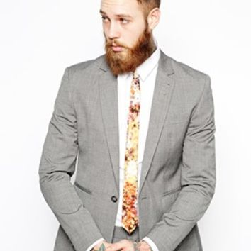 ASOS Tie With Photographic Floral Print