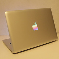 Rainbow Logo for Apple macbook pro decals macbook air macbook pro decal vinyls macbook decals sticker Avery mac decals Apple Mac Decal
