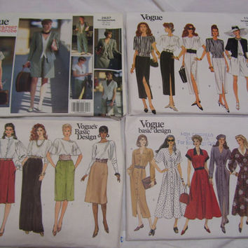 Vogue Pattern  2637 / Vogue Pattern 1170 / Vogue Pattern 1023 / Vogue Pattern 1192 FREE US SHIPPING  Additional 30% Off 3 Or More
