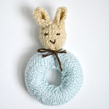 Peter rabbit baby rattle knit bunny from audrianascloset on peter rabbit baby rattle knit bunny rabbit baby toy made to order easter negle Gallery