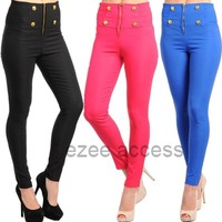 SeXY WoMeNS PaNTS HiGH WaiSTeD PaNTS LeGGiNG STReTCHY SKiNNy SLiM FiT S-L