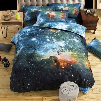 3d Galaxy bedding sets Twin/Queen Size Universe Outer Space Themed Bedspread 2pc/3pcs/4pcs Bed Linen Sheets Duvet Cover Set #135