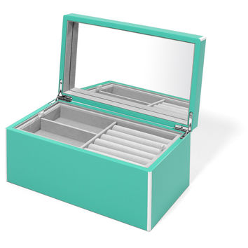 Elle Lacquer Jewelry Box Turquoise