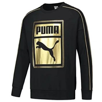 PUMA Autumn And Winter New Fashion Letter Print Women Men Long Sleeve Sweater Top