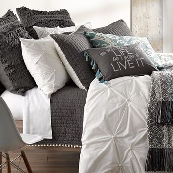 Nordstrom At Home 'Abstract Gathers' Duvet and Levtex 'Pom Pom' Quilt | Nordstrom