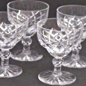 Signed Kosta boda stem cut glass  Crystal ,Sweden 4 pieces