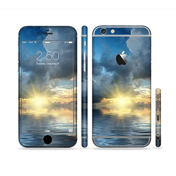 The Calm Ocean Sunset Sectioned Skin Series for the Apple iPhone 6s Plus