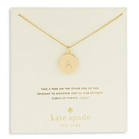 Kate Spade New York Engraved Letter A Pendant Necklace