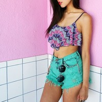 Crochet Ruffle Crop Top | Cute Tops at Pinkice.com