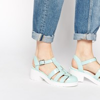 New Look Jurassic Mint Gladiator Heeled Shoes