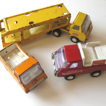 SALE 3 Vintage Tonka Toy Trucks, Children, Kids, metal cars
