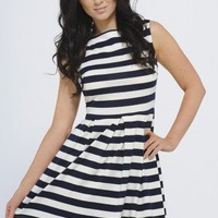 Striped Sailor Dress - AX Paris