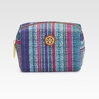 Tory Burch - Baja Stripe Coated Poplin Cosmetic Case