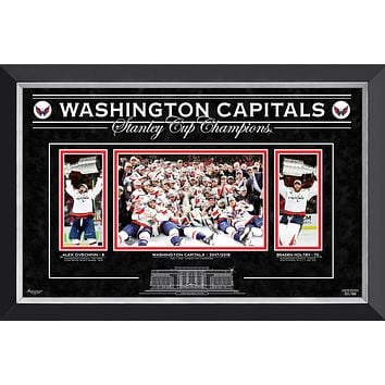 WASHINGTON CAPITALS THE STANLEY CUP CHAMPS - OVECHKIN AND HOLTBY -LTD ED OF 88