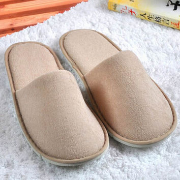 Hot Sale Men Women Anti Slip Slippers Indoor House Home Soft Warm Shoes Room slipper Spa slippers