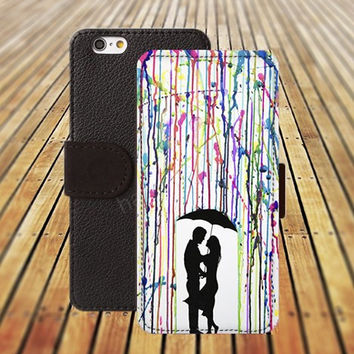 iphone 5 5s case watercolor rain case love iphone 4/ 4s iPhone 6 6 Plus iphone 5C Wallet Case , iPhone 5 Case, Cover, Cases colorful pattern L128