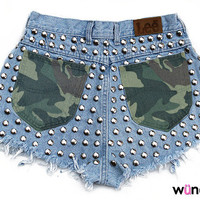 The Metal Shorts with Camo Detail