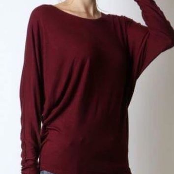 Long Sleeve Slouch Top