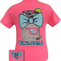Girlie Girl Originals Oklahoma Chevron Mason Jar Preppy State Bow Bright T Shirt