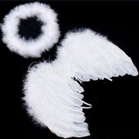 Cute Baby White Angel Wings Feather for Party Decoration And for Photo Prop-LD (Color: White) = 1651536964