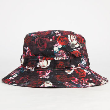 New Era Bloom Mens Bucket Hat Red One Size For Men 23602630001
