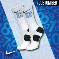 Nike Elite Crew Basketball Socks customized with your lacrosse number | Lacrosse Unlimited
