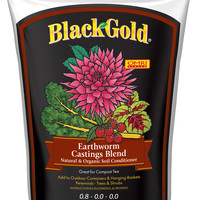 Black Gold Earthworm Castings Blend, 16 qt Organic ORMI