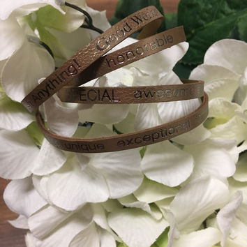 """""""You Are Beautiful..."""" Wrap Around Good Works Bracelet in Rose Gold"""