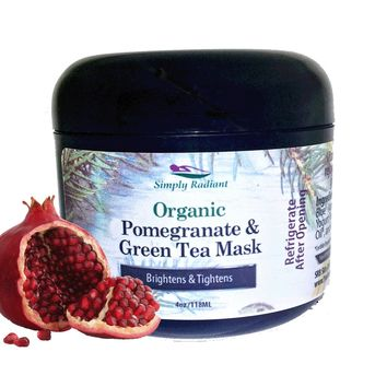Organic Pomegranate and Green Tea Face Mask