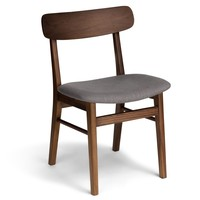 Ecole Thunder Gray Walnut Dining Chair