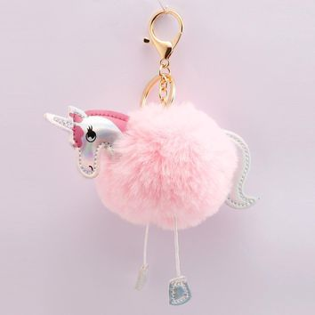 Unicorn Flamingo Keychain Bag Accessories Unicorn Flamingo Decor Wedding Baby Shower Birthday Gifts for Guests Kids Party Favors