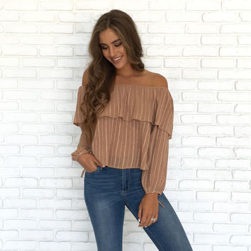Fusion Embroider Off Shoulder Blouse