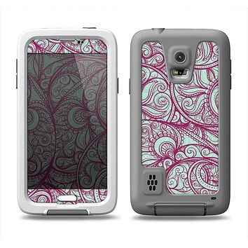 The Vector Purple Thin Laced Samsung Galaxy S5 LifeProof Fre Case Skin Set