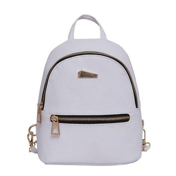 Women Backpack Small Size PU Leather Women's Backpacks Fashion School Girls Bags Female Back Pack Famous Brand mochilas D35M4