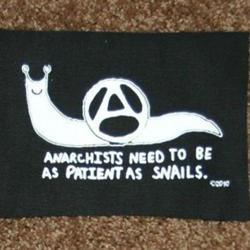 Anarchy Snail peace anarcho crust punk patch
