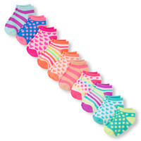 Toddler Girls Mixed Print Ankle Socks 10-Pack | The Children's Place